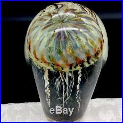 Satavar Jellyfish Paperweight Sculpture Nautical Sea Creature Art Glass Signed