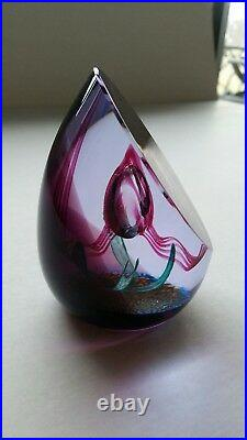 Scotland Caithness 139/650 Glass Paperweight'Angelina' Purple Blue Green Bubble
