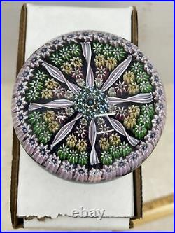 Scotland Perthshire Millefiori Art Glass Paperweight Signed P Cane