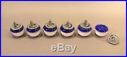 Set of 6 Fine Vintage Paperweight Doorknobs Millefiori Perthshire