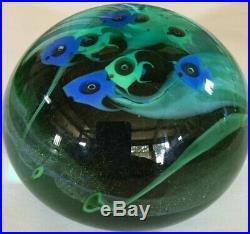 Seventies Studio Art Glass Paperweight Aquarium Lundberg Studios Unsigned