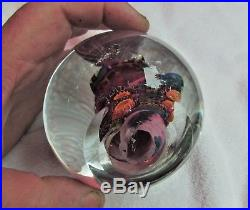 Signed Aro Schulze 95 Tropical Coral Reef Vitra Studio Glass Paperweight 3 3/4