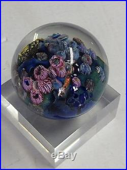 Signed Dated Numbered Josh Simpson Inhabited Planet 3 Paperweight 2005