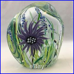 Signed David Huchthausen Milropa Studios Art Glass Paperweight Dated 1979
