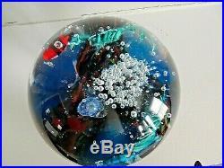 Signed ELIO RAFFAELI ARS Murano Art Glass AQUARIUM DOORSTOP MAGNUM Paperweight