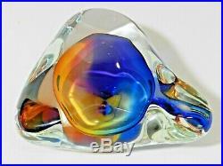 Signed Paul Harrie Art Glass Sculpture Paperweight