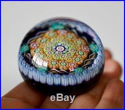 Signed Perthshire Millefiori Art Glass Paperweight P 1985 Amazing