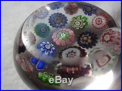 Signed Rare Clichy Concentric Millefiori Paperweight