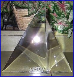 Signed STEUBEN Art Glass Crystal Paperweight SAILBOAT SAILS BOATING SAILING