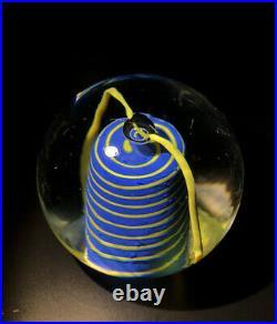 Signed Set BERTIL VALLIEN KOSTA BODA SWEDEN Two Art Glass Paperweights, H2 1/2