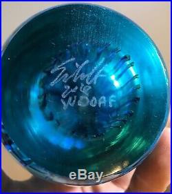 Signed Studio Art Glass Jellyfish Sculpture Paperweight Eickholt Satava