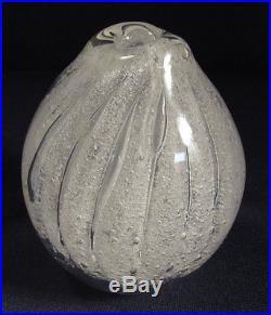 Signed Tapio Wirkkala Art Glass Floating Bubbles Paperweight Vase