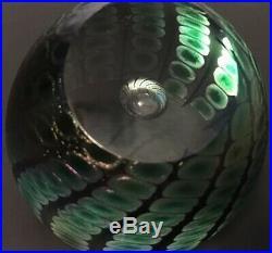 Signed Vintage Tom Philabaum 1993 Art Glass Paperweight