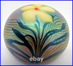 Signed and Dated Orient & Flume pulled feather Flower Paperweight 1976