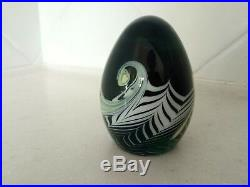 Signed and numbered Grant Randolph Studios paperweight with pulled feathers
