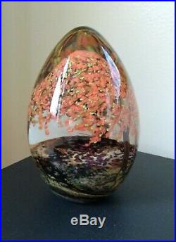 Single Fall Tree, Cathy Richardson Art Glass, Bookend, Paperweight