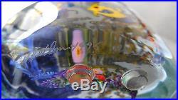 Spectacular 1995 Chris Heilman Aquarium Angel Fish Glass Sculpture Paperweight