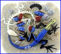 spectacular jim d onofrio colorful salamander art glass paperweight