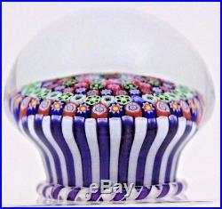 Spectacular PARABELLE Millefiori STAVE Piedouche BASKET Art Glass PAPERWEIGHT