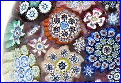 Spectacular Peter McDougall (PMcD) Large Closepack Millefiori Paperweight