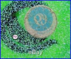 Splendid PAUL YSART Brown Spotted SNAKE over GREEN GROUND Art Glass PAPERWEIGHT