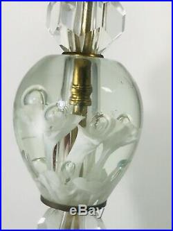 St. Clair Mid-Century Modern Art Glass Lamp Paperweight Bulb Trumpet Flowers