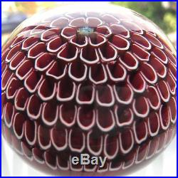 St Louis 1974 Red Honeycomb Paperweight Stunning Limited Edition 211