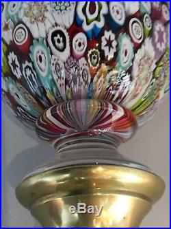 St Louis 1974 millefiori limited edition French art glass paperweight newel post