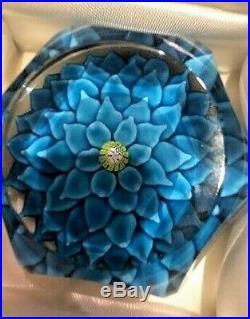 St. Louis Antique Rare 1970 Sulfide Blue Dahlia