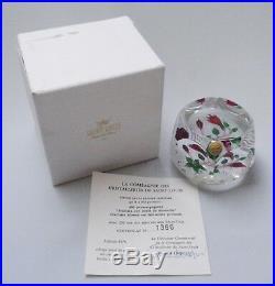 St Louis Fuchsia Flower Paperweight + Box & Certificate