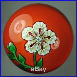 St. Louis Millefiori Large flower paperweight 1973