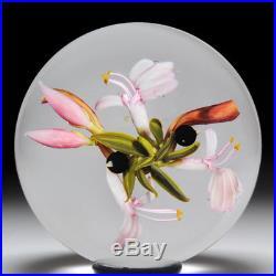 Stankard Studio 2006 Honeysuckle Flowers glass paperweight
