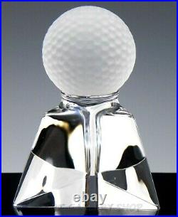 Steuben Crystal Art Glass Figurine Paperweight GOLF BALL By Joel Smith Rare