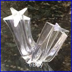 Steuben Crystal Art Glass Star Stream Figurine Paperweight Signed EXCELLENT