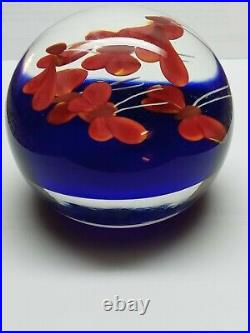 Steven Lundberg Butterfly Glass Paperweight