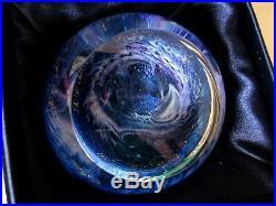 Striking GES MILKY WAY PAPERWEIGHT Celestial Series, 2002, Velvet Box & Card