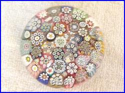 Studio Glass Paperweight Peter McDougall Closepack Millefiori Sig. Cane
