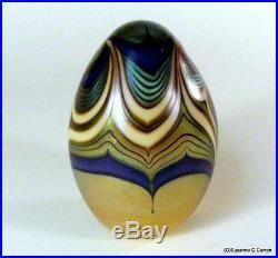 Stunning 1977 Orient & Flume Iridescent Art Nouveau Studio Art Glass Paperweight