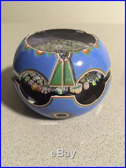 Stunning John Deacons paperweight 4 colour overlay excellent condition