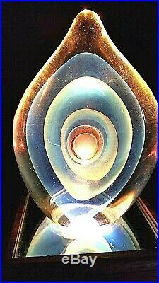 Stunning Karnig Dabanian Studio Art Glass Paperweight Sculpture Signed