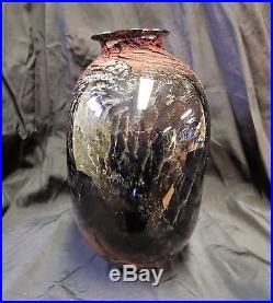 Stunning, Large Josh Simpson, Signed And Dated, Unusual Earth Tones Vase