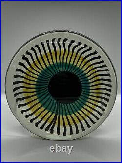 Stunning Studio Art Glass Eye Sculpture 7 Round Heavy Unique Rare
