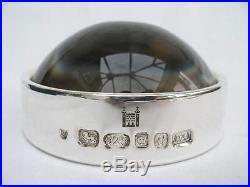 Superb Royal Mint Sterling Silver Mounted Heavy Glass Magnifier By Ari D. Norman