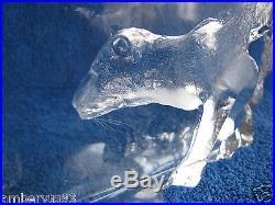 Sweden Kosta Orrefors Art Glass figurine animal PUMA cheetah WWF BIG paperweight