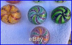 TEN Paul Ysart CROWN paperweights inc matched pair