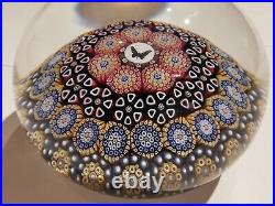 TWIST glass MIKE HUNTER Paperweight. Excellent Millefiori 1/1 Butterfly/Moth