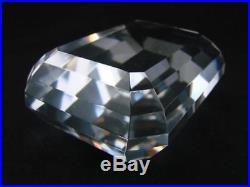 Tiffany & Co. Emerald Cut, Clear Glass Paperweight, Prestigious Desk Accessory