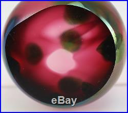 Tiffany & Co. Iridescent Round Spotted Favrile Art Glass Paperweight