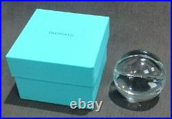 Tiffany & Co. Lead Crystal Basketball Paperweight or Display Piece NWOT
