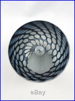 Tom Philabaum Reptilian Signed Studio Art Glass Paperweight 1993 Iridescent
